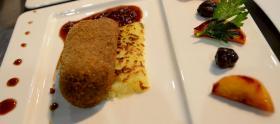 Croustillant de cepes au coeur de foie gras